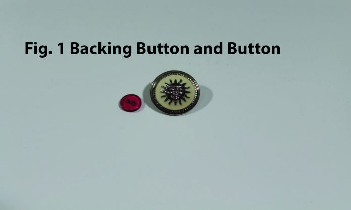 Backing button and button.