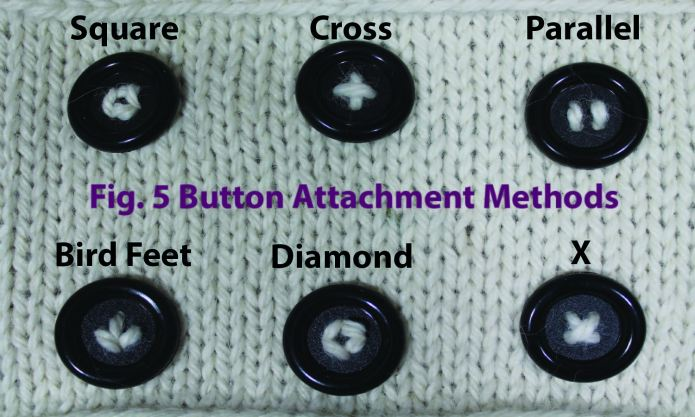 Options for attaching buttons.