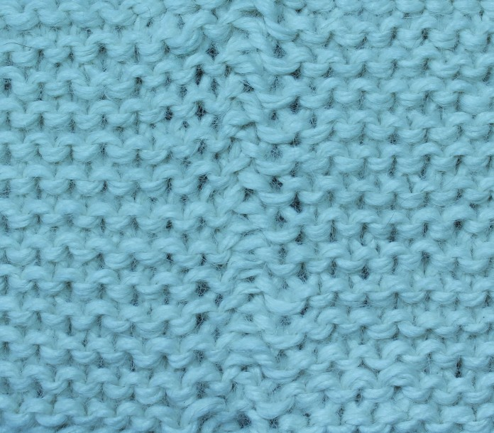 V-to-V in Garter Stitch